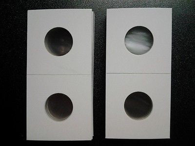 250 New Nickel Size 2x2 Cardboard Coin Holders Flips