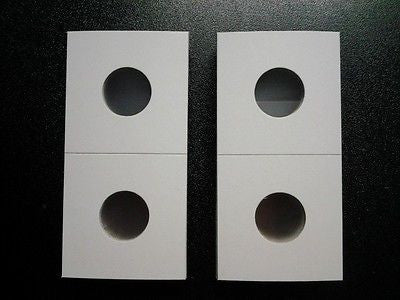 250 New 2x2 Penny / Cent Cardboard Coin Holders Flips