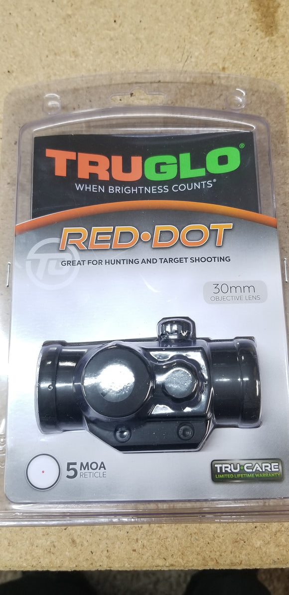 New Truglo Red Dot Sight 30mm Scope 5 MOA TG8030p