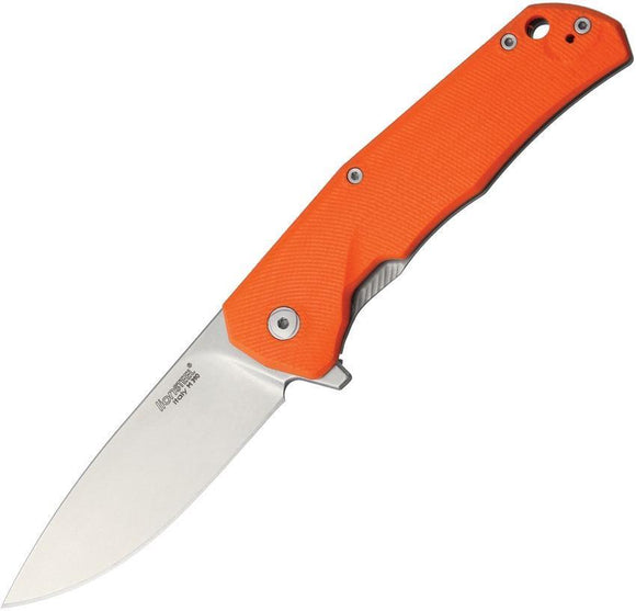 Lion Steel TRE G10 Orange Handle Framelock Bohler M390 Stainless Knife