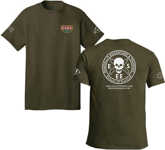 ESEE Randall Adventure Training Logo Men's Green L Short Sleeve T-Shirt