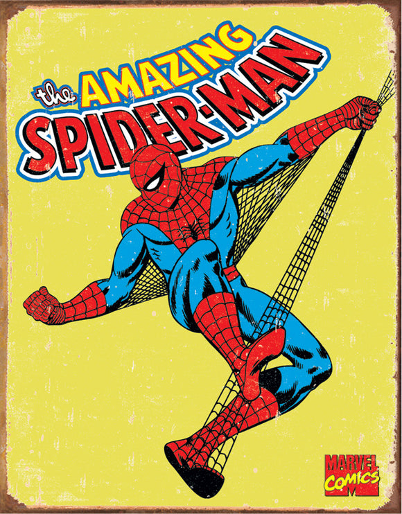 Tin Signs The Amazing Spiderman Marvel Comic Book Superhero Metal Sign 1437
