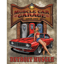 New Legends Detroit Muscle Car Garage Man Cave Vintage Metal Tin Sign 1568