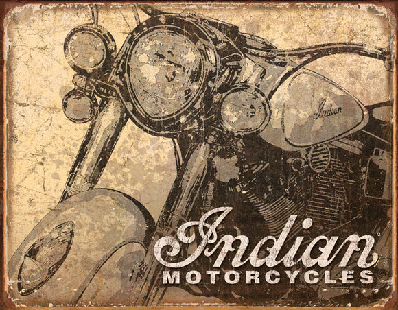 Tin Signs Indian Motorcycles Antiquied Man Cave Metal Sign 1724