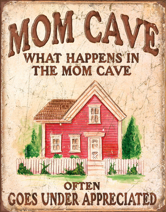 New What Happens in the Mom Cave Often Goes Under Appreciated Decorative Metal Tin Sign 1806