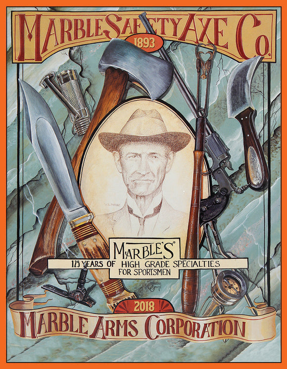 Marbles Safety Axe & Arms Co. Sportsman Hunting Gear Man Cave Metal Tin Sign 9163