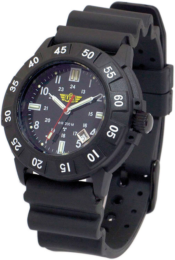UZI The Protector Black Self-Illuminating Water Resistant Watch 001R