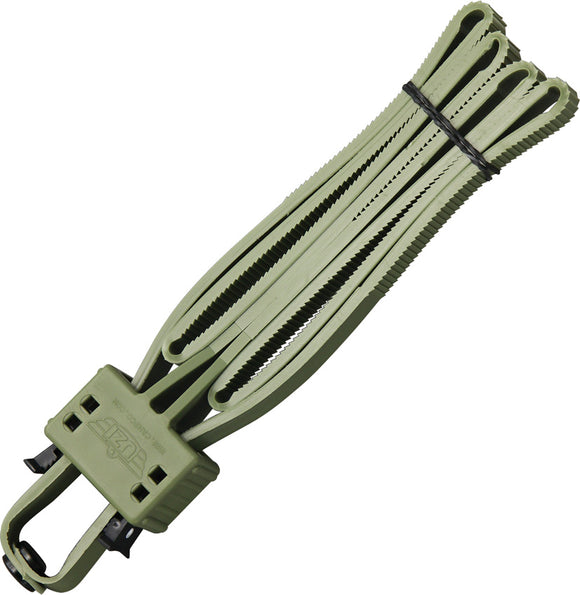 UZI OD Green Heavy Duty Police Disposable Flex Handcuffs FLXCGR