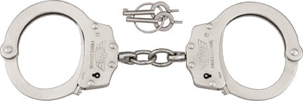 Uzi Professional Handcuff Silver Finish Steel Double Lock HCPROS