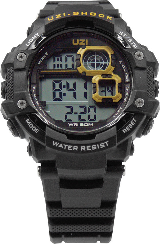 UZI Black & Orange Shock Digital Watch Water Resistant WZS02