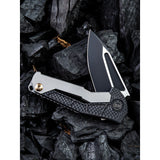 We Knife Co Ltd Sugga Framelock Titanium/Carbon Fiber Folding S35VN Knife 915B