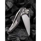 We Knife Co Ltd Etern A Integral Lock Titanium/Carbon Fiber Folding Knife 918A