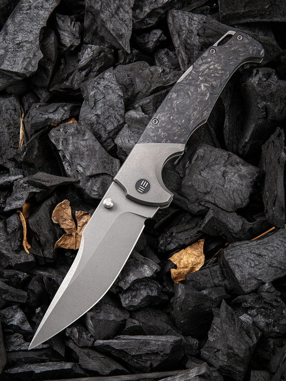 We Knife Co Ltd Blocao Lockback Titanium/CF Folding CPM S35VN Knife 920A