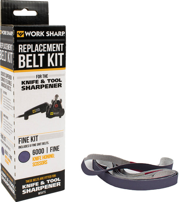 Work Sharp Original 6000 Belt Fine Grit PacK of 6 Replacments  03863