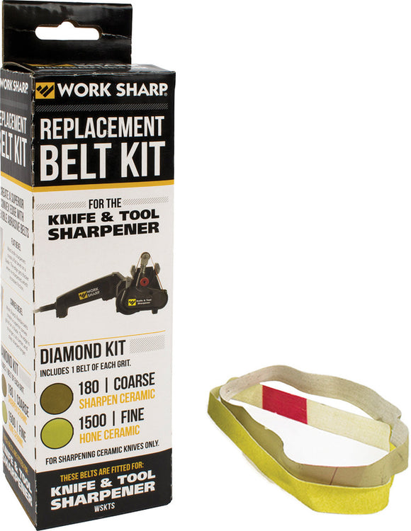 Work Sharp Diamond Replacement Belt 180 Coarse/1500 Fine For Ceramic Sharpening 03879