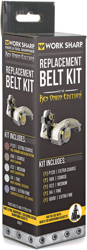 Work Sharp Ken Onion Assorted Belt Kit P120/X65/X22/X4/6000 PK of 5 03891