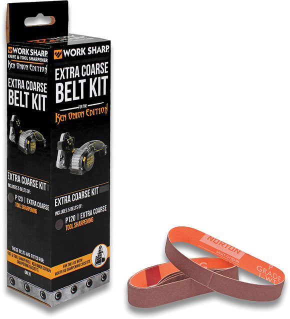Work Sharp Ken Onion P120 Belt Kit Extra Fine Grit PK of 5 03908