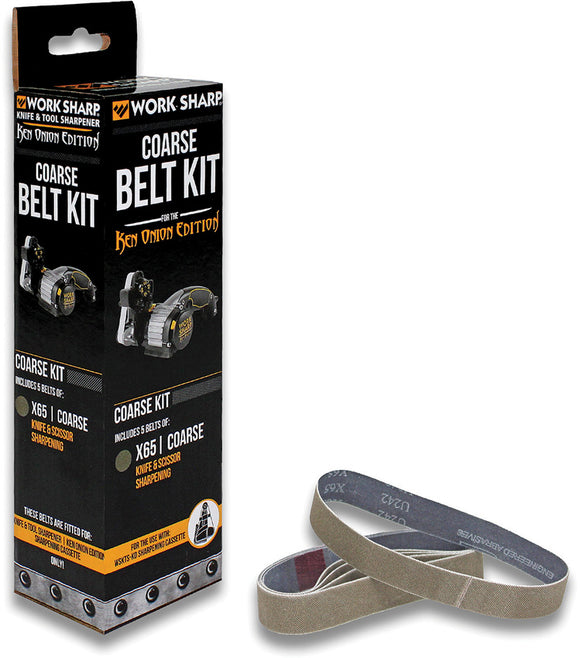 Work Sharp Ken Onion X65 Belt Kit Coarse Grit PK of 5 03909