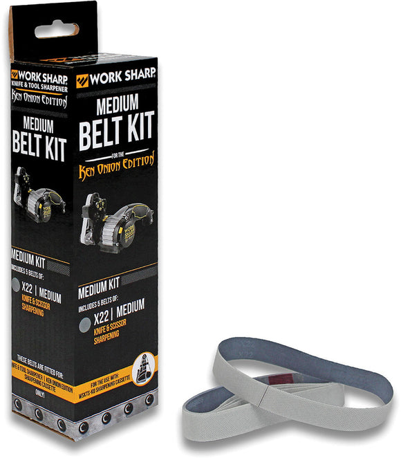 Work Sharp Ken Onion X22 Belt Kit Medium Grit PK of 5 03910