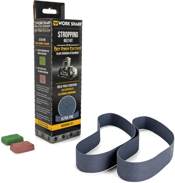 Work Sharp Ken Onion Stropping Belt Kit Ultra Fine & Compound 03920