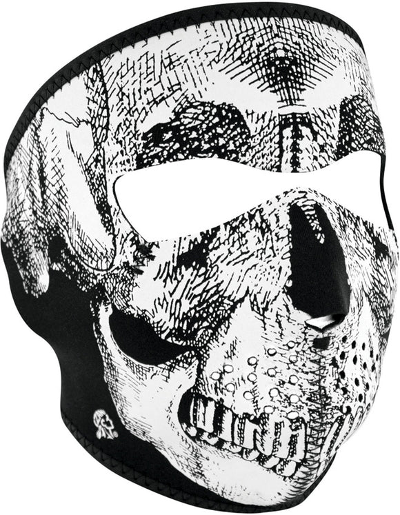 Zan Headgear Full Face Mask BW Skull WNFM002
