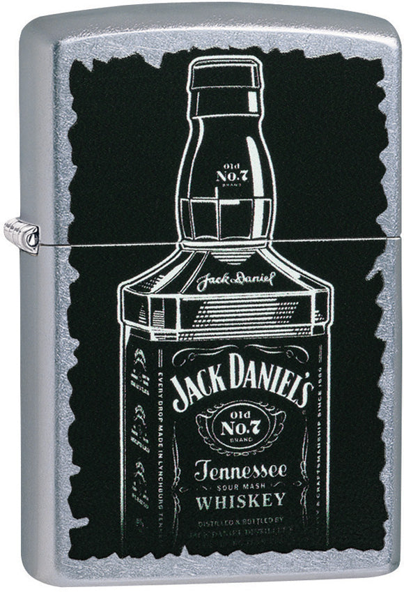 Zippo Jack Daniels Tennessee Whiskey Street Chrome Windproof Lighter 07282