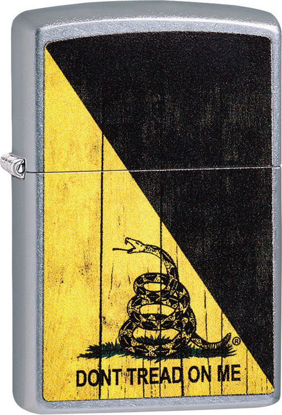 Zippo Lighter Don't Tread On Me Street Chrome 08718