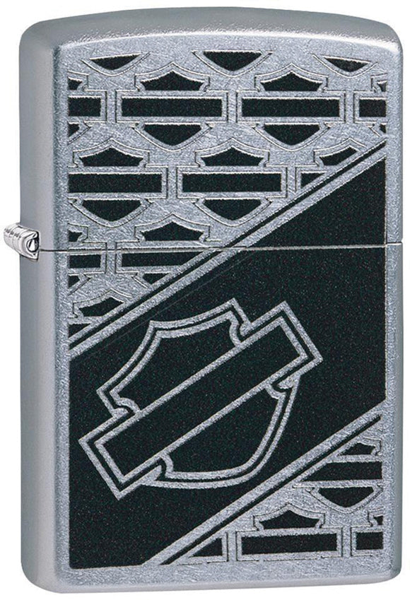 Zippo Harley Davidson Motorcycles Logo Street Chrome Windproof Lighter 09741