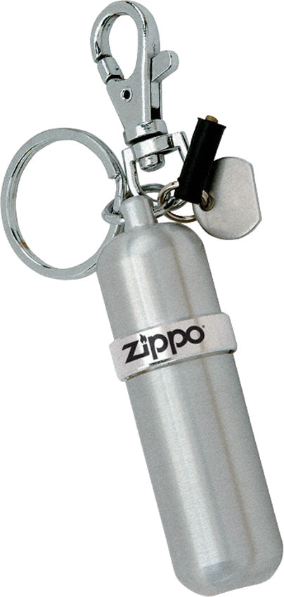 Zippo Aluminum Fuel Canister Keychain w/ Flint Screw Tool/Holder 11029