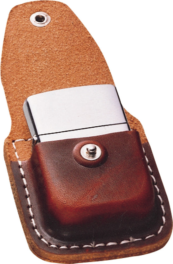 Zippo Lighter Brown Leather Carrying Pouch Sheath 17020