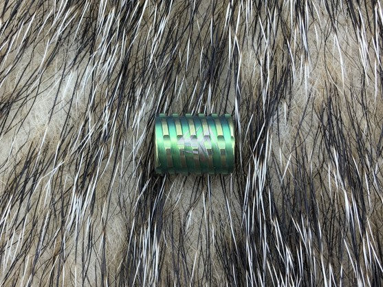 WE KNIFE Co. Titanium Green Anodized Finish Construction Lanyard Bead A02A