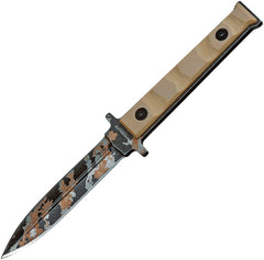 "Boker 6"" Magnum Weekend Warrior Digi Camo Fixed Dagger Blade Tan Knife - M02SC329"