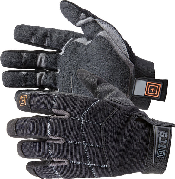 5.11 Tactical Station Grip Black & Gray Protective Flexible Dry Quick Men's Work Gloves