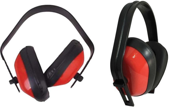 ABKT Tac Red Ear Muffs 25 Db w/ Adjustable Headband - 080R