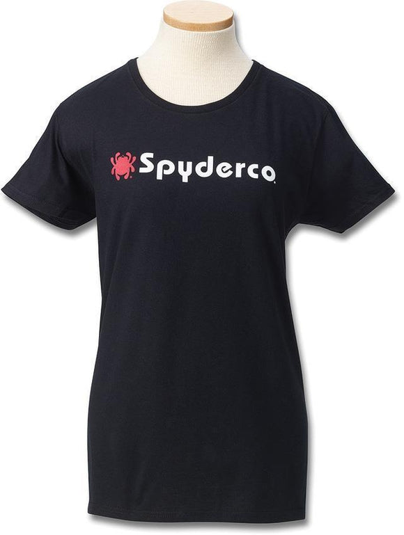 Spyderco LOGO Black Women's Adult Size S M LG XL 2XL Short Sleeve T-Shirt