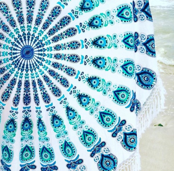Beach Roundy in Teal Mandala