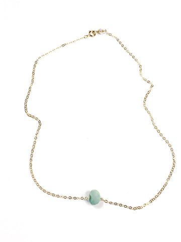 Floating Amazonite Necklace ~ Healing ~ Hope ~ Truth
