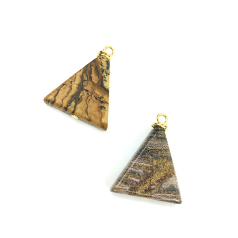 Jasper Triangle Charms