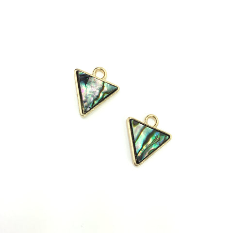 Abalone Triangle Charms