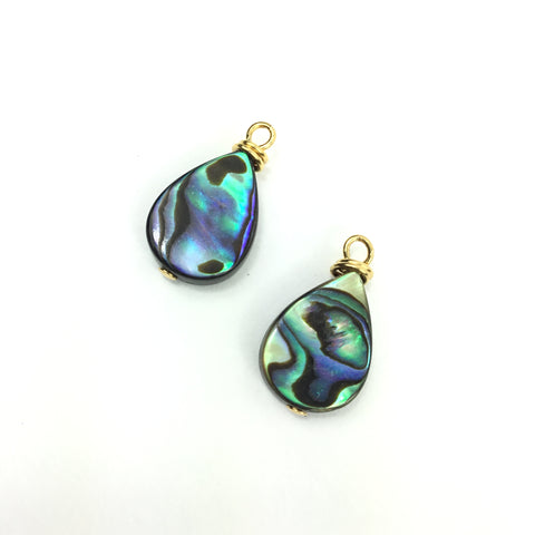 Abalone Drop Charms