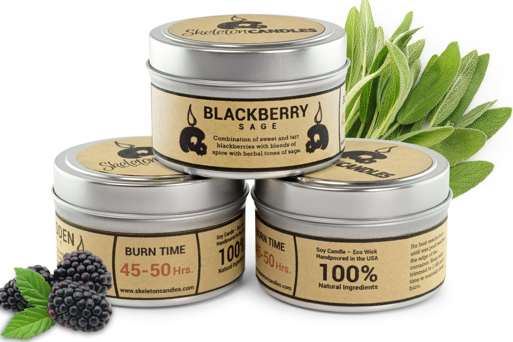 Blackberry & Sage - Soy Candle