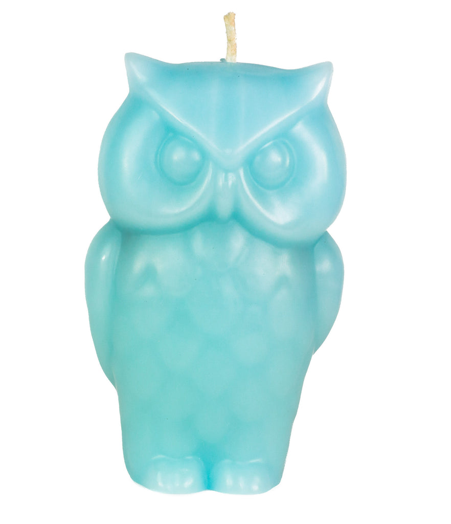 Angry Owl Candle - Blue
