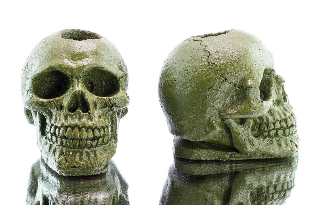 "Double ""Army Green"" Skull"