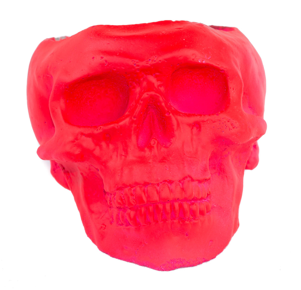 Skull Holder - Plants Candles - Hot Pink