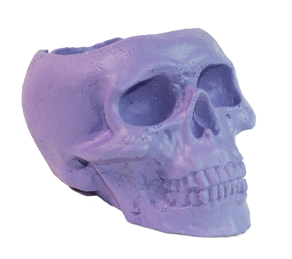 Skull Holder - Plants Candles - Light Purple