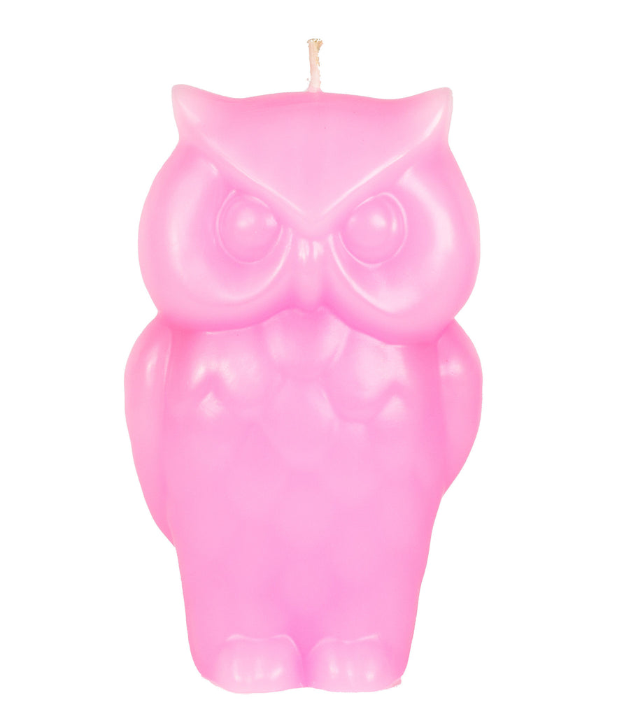 Angry Owl Candle - Pink