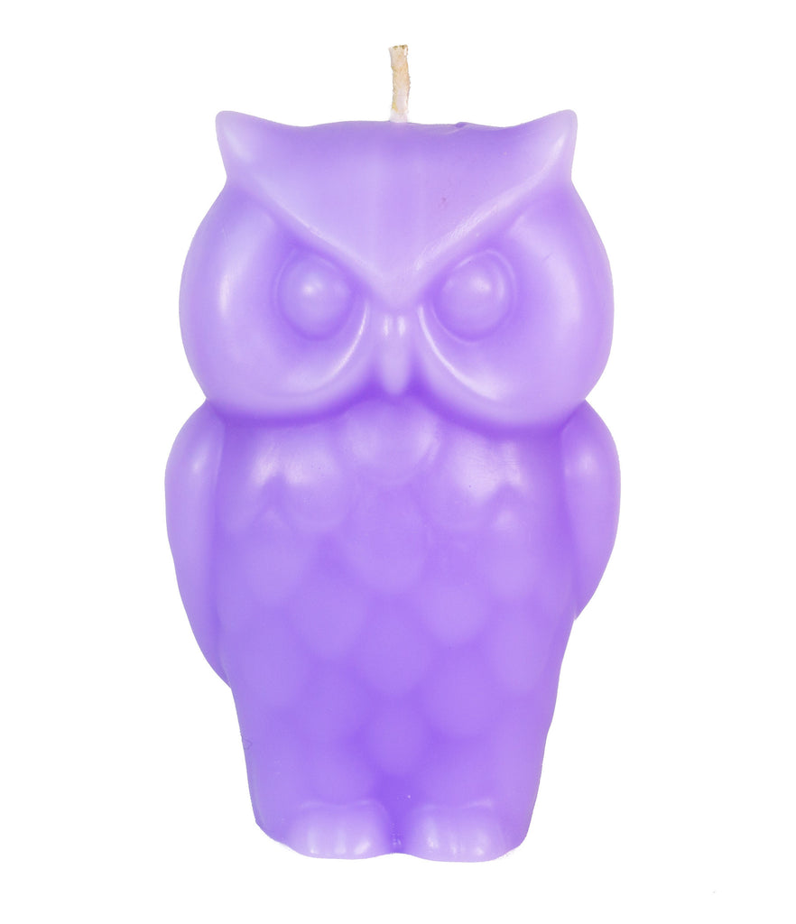 Angry Owl Candle - Purple