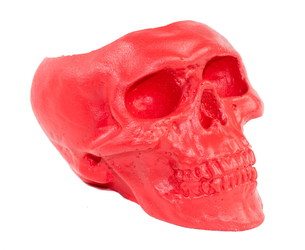 Skull Holder - Plants Candles - Red
