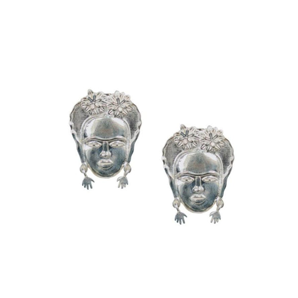 Silver Frida Kahlo Earrings