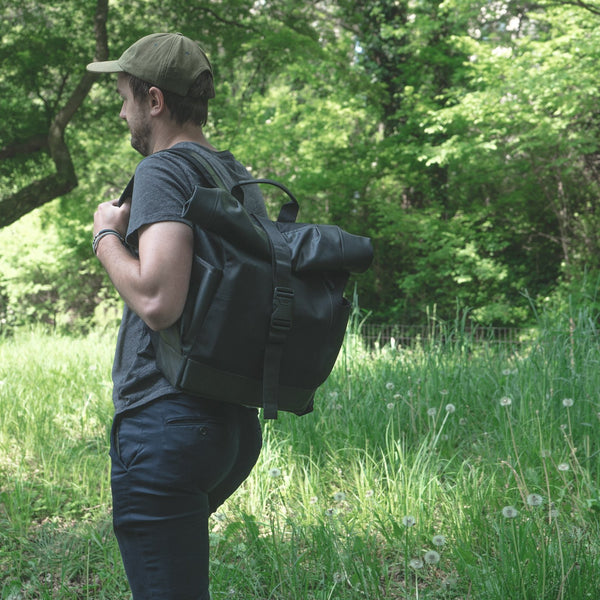 Recycled Tire & Vinyl Backpack